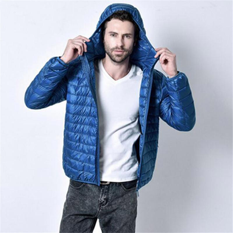 Men Down Jacket Ultra-light down Parka Male Winter Coats Hooded Casual Clothing Down Warm Parkas Free Shipping