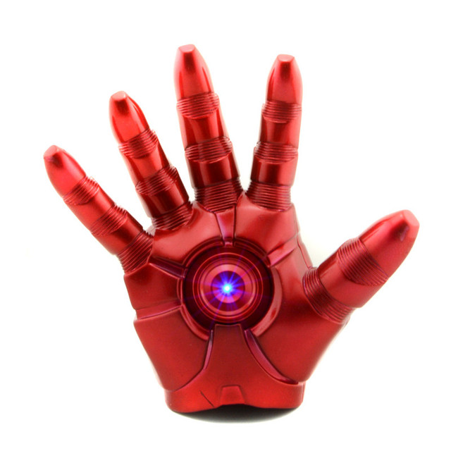 Starz 1:1 Iron Man Right Hand guante americano Comic superhéroe Iron Man Tony Stark Light Up juega el mejor regalo