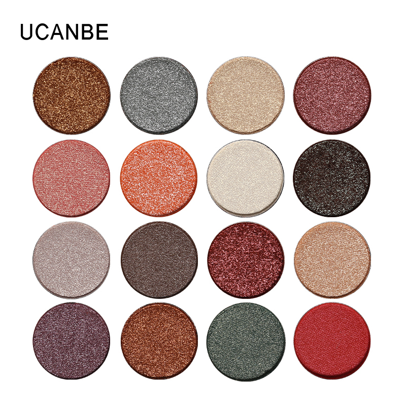 UCANBE Profesional Tunggal Aurora Shimmer Eye Shadow DIY 26 Warna Mermaid Glitter Eyeshadow Palette Nude Natural Smoky Cosmetic