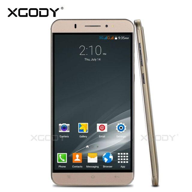 Xgody Смартфон 6 Дюйм(ов) Android 5.1 Quad Core Сотовый Телефон 2SIM карта 8 ГБ ROM 1 Г RAM MTK6580 С 5.0MP Камера Мобильного Телефона