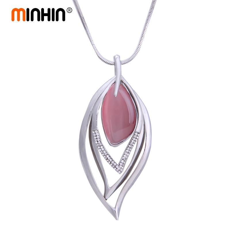 cbe7c47a8726 Collar de Piedra Rosa Blanco azul para mujer Collar de piedra de imitación  de