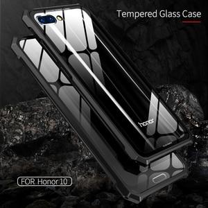 Image 4 - Для huawei Honor 10 защитный чехол самолета Бампер металлический винт сотовый телефон чехол для Honor10 с прозрачной задней закаленное Стекло