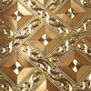 Beibehang Simple Gold Foil Golden Yellow Diamond Lattice Glowing Wallpaper KTV Living Room Bar Aisle Ceiling