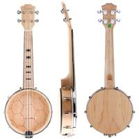 Kmise Banjo Ukulele Ukelele Uke Concert 4 String 23 Inch Size Maple Wood