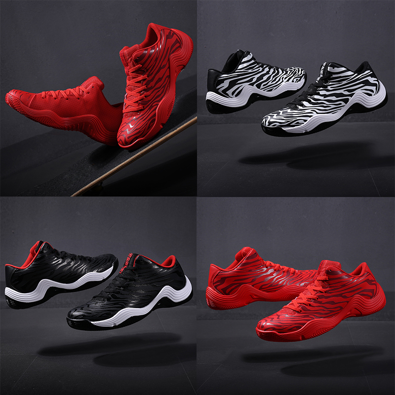 2018 Spring Mens On Court Basketball Shoes Support Cushioning Outdoor Sneakers Low-top Totem Basket Shoes For Men Size EU39-45