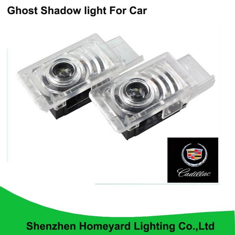 2pc promotion car logo door light Car LED Courtesy Door Logo Projector Light Ghost Shadow Light for Cadillac