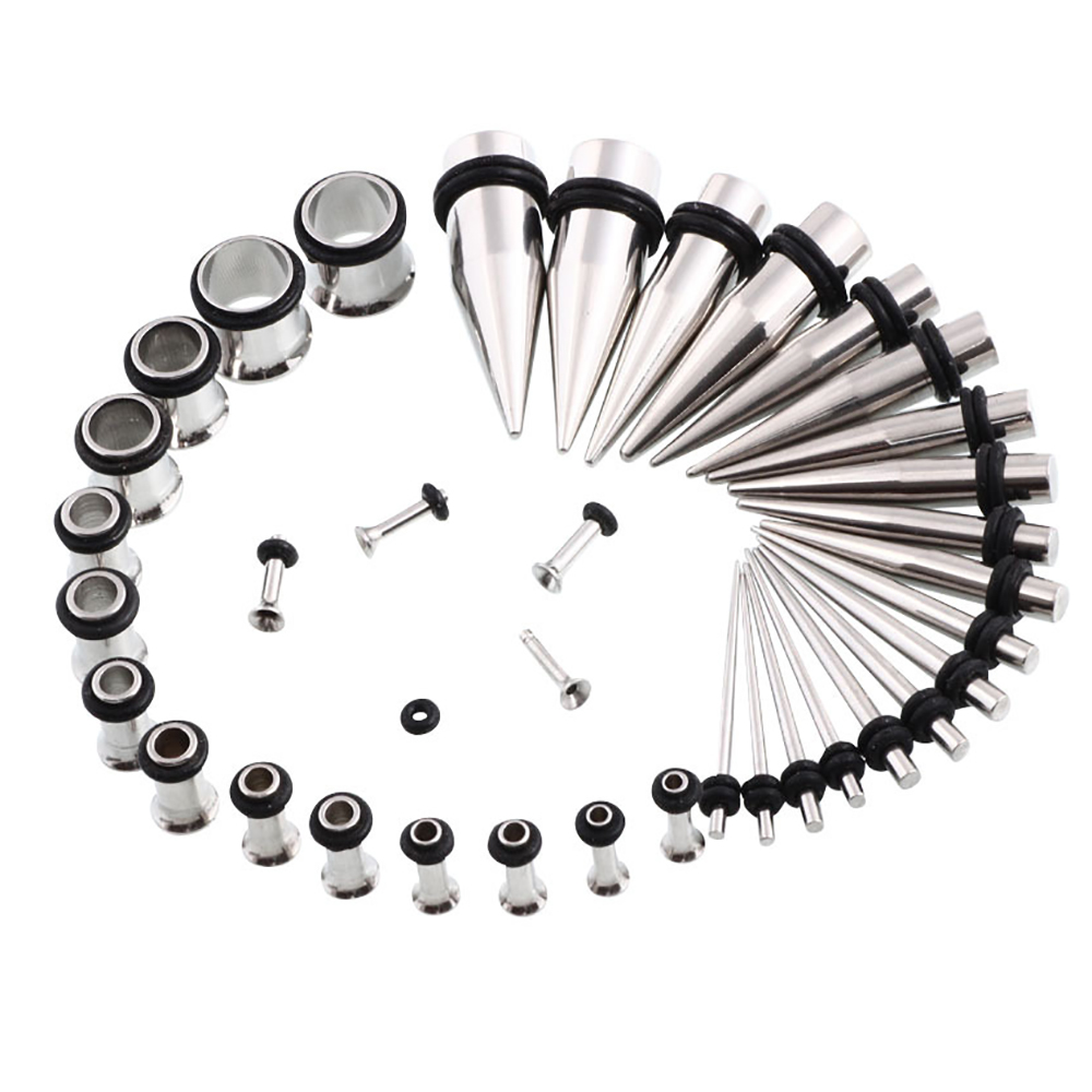 24Pcs Acrylic Taper Kit with Plugs Double O-rings 00G-3//4 Stretching Kit 6-COLORS