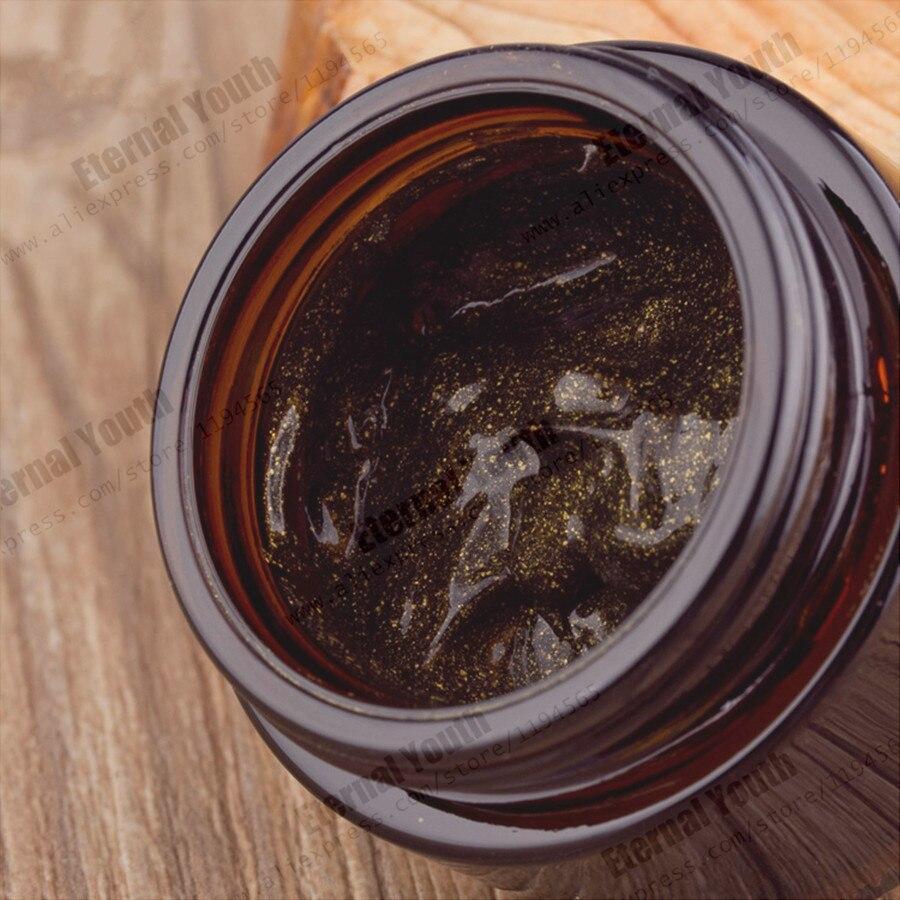 Carbono activado negro máscara de oro de pliegue resistente blanqueamiento conservar la humedad profunda Spa tratamiento 1000 ml