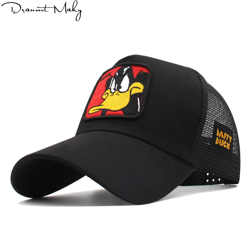 Fashion Animal duck   Baseball     Caps   Men Breathable Mesh Snapback   Caps   Unisex Sun Hat Women bone Casquette Hip Hop   cap   Streetwear