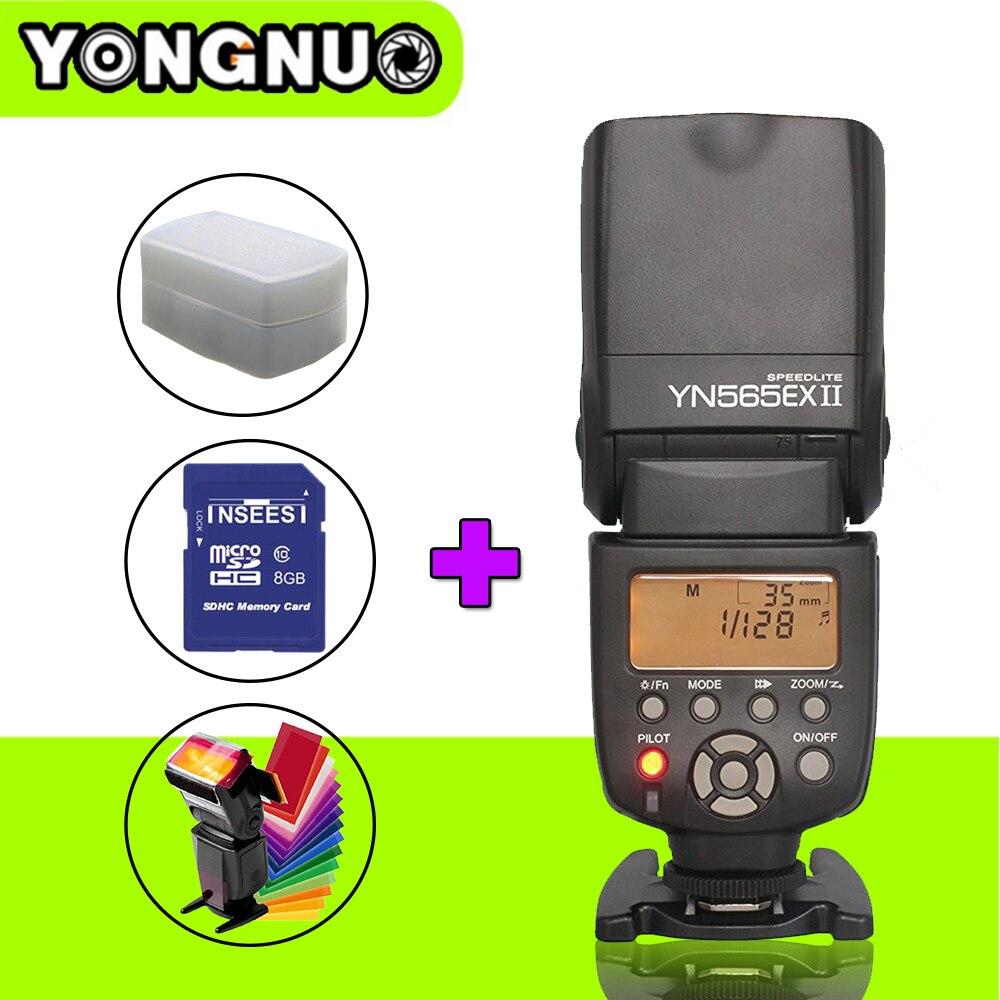 Yongnuo YN565EX II YN-565EX II ITTL Flash Speedlite For Canon Version 6D 70D 60D 550D 650D 1100D 600D 50D 5d mark3 DSLR Camera 2x yongnuo yn600ex rt yn e3 rt master flash speedlite for canon rt radio trigger system st e3 rt 600ex rt 5d3 7d 6d 70d 60d 5d