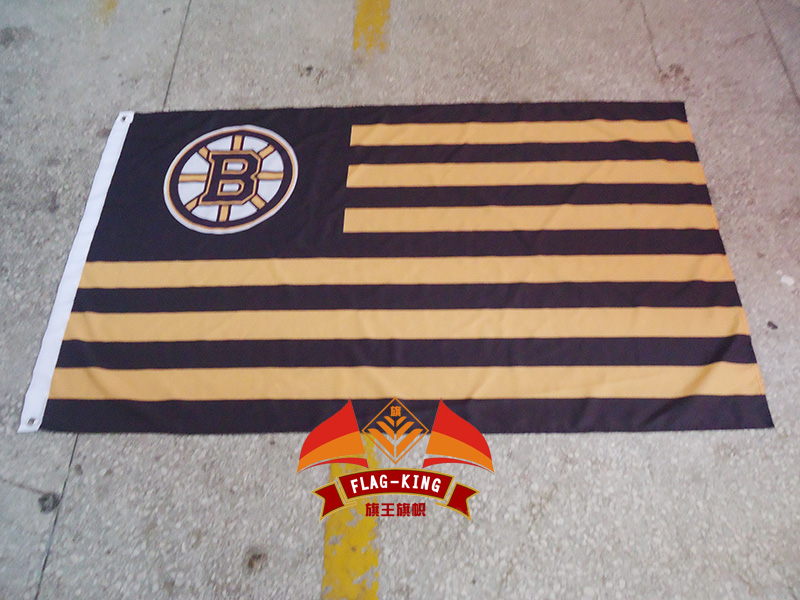 NHL Boston Bruins with American national flag background flag, green banner,90*150CM polyster free shipping ...