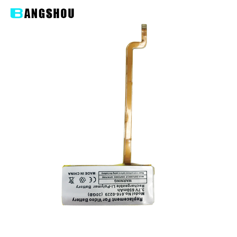 Brand New Replacement Battery for iPod 5th Video Battery 30GB 3.7V 650mAh Rechargeable Li-Polymer Battery