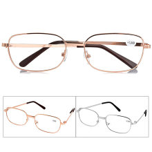 Gafas de lectura para vista cansada, antideslizantes de Metal + 1,00 1,50 2,00 2,50 3,00 3,50 4,00