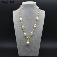 High Quality Natural White Fresh Water Pearl Pearl Beads Wire Wrapped Linked Chains Necklace Elegant Fashion Jewelry Gift