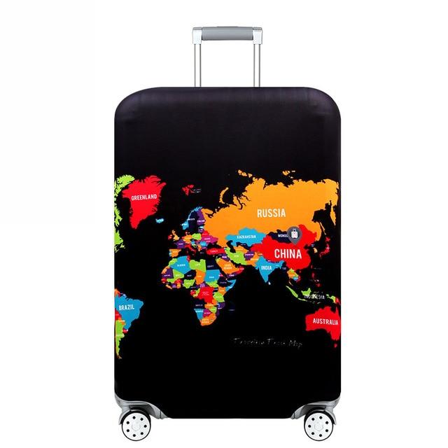 HMUNII карта мира, дизайнерский защитный чехол для багажа, Дорожный Чехол для чемодана, эластичные пылезащитные Чехлы для 18-32 дюймов, аксессуары для путешествий - Цвет: Map of Russia