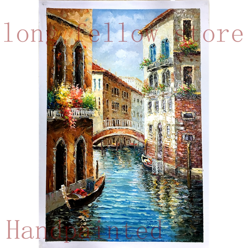 Home Art Wall decor Venice Italy Scenery Oil Painting Picture Printed On Canvas