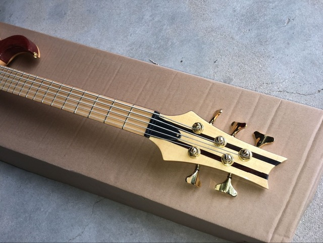handcrafted 5 String Bass Guitar. Maple fingerboard  2
