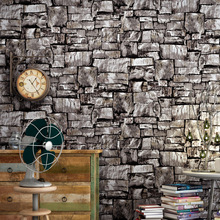 Vintage stone marble wallpaper study bar Cafe creative Brick pattern wall sticker pvc material waterproof decoration