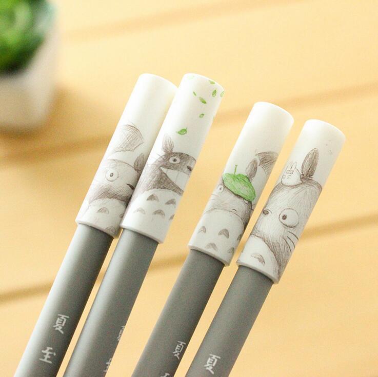 4 Pcs/lot Novelty Totoro Cartoon Gel Ink Pen Promotional Gift Stationery School & Office Supply