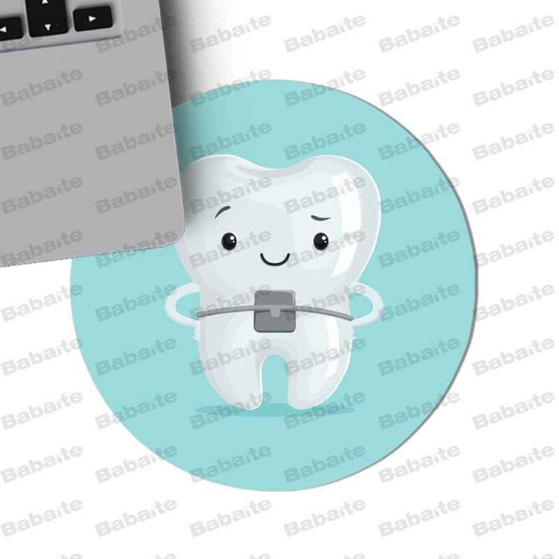 Babaite لطيف الأبيض الأسنان لوحة سطح المكتب فريدة لعبة مستديرة ماوس حجم ل 20x20 سنتيمتر 22x22 سنتيمتر سرعة نسخة الألعاب ماوس