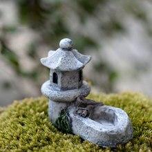 5*4*1 см мини ретро пруд башня ремесло Сказочный Сад Декор Фигурки игрушки микро пейзаж Сад поставка дома Китай украшения