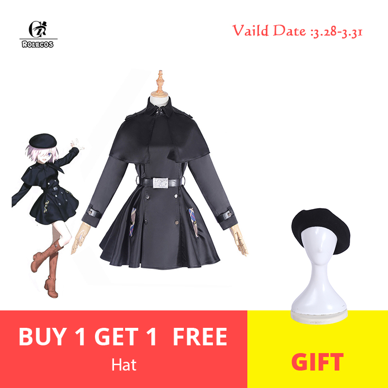 ROLECOS FGO Mash Kyrielight Cosplay Costume Fate Grand Order Game Cosplay Women Costume 2018 3rd Anniversary Dress Cloak Hat