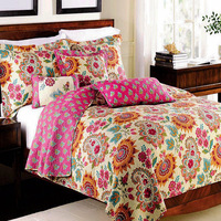Thick Handmade Patchwork Quilt 3PCS Sets Bedding Washed CottonSummer Blanket Bedspread Cover with 2pcs Pillowcase