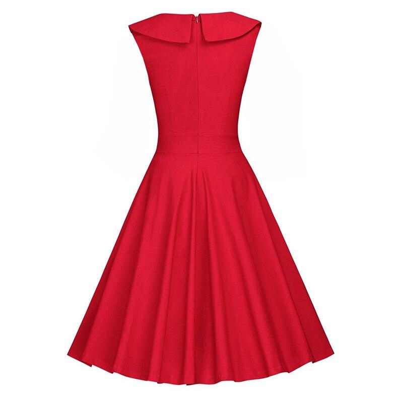 MISSJOY 2018 Summer Dress Women Vintage turn down collar high waist polka dot Fashion temperament patchwork A line party Dresses in Dresses from Women 39 s Clothing