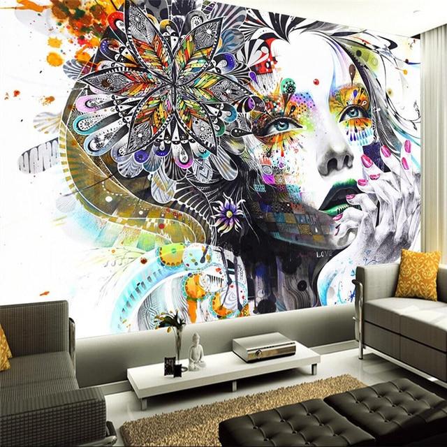 Beibehang Tapeten Wohnkultur Foto Hintergrund Wallpaper Für Wände 3  Fotografie Farbe Abbildung Kunst Kleid Up Hotel