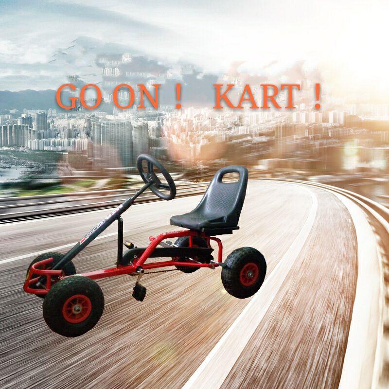 Pédale Kart siège Unique à quatre roues pas cher aller karting pour enfants