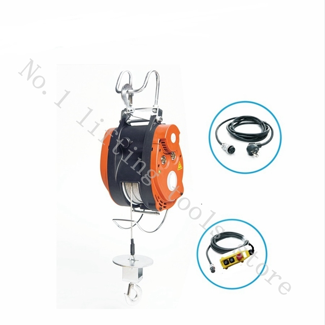 180 250KG 30M, 220V, 50Hz,1 phase mini electric steel wire rope ...