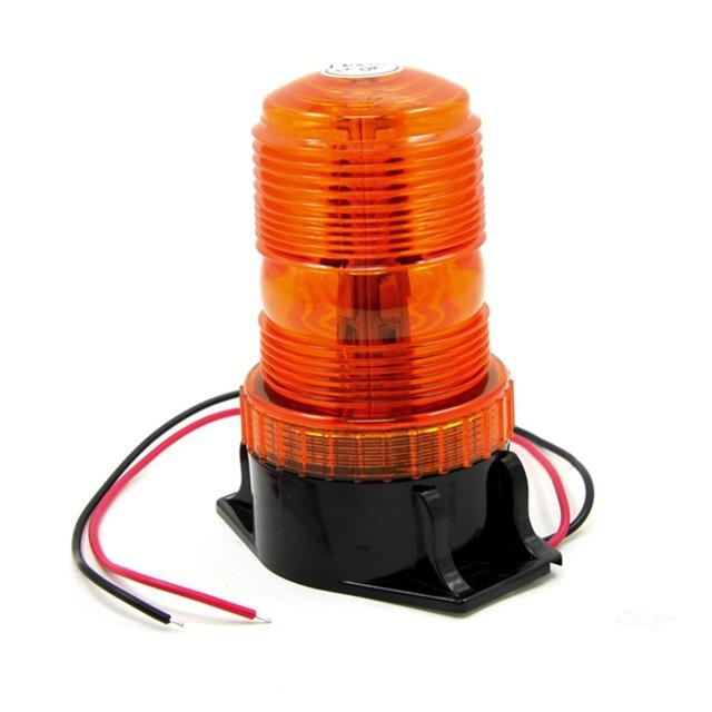 10 V-30 V Mini LED Strobe Beacon luz de Advertência Âmbar Universal Car Styling Dia Luzes de Estacionamento Luzes Externas