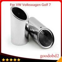 Автомобильная выхлопная труба из нержавеющей стали  выхлопная труба глушителя  автомобильные аксессуары для VW Volkswagen Golf 7 2013-2015  автомобильн...