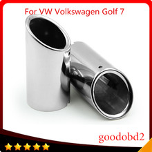 цена на Car tail pipe Stainless Steel Exhaust Muffler Pipe auto accessories for VW Volkswagen Golf 7  2013 - 2015 automobile tail throat