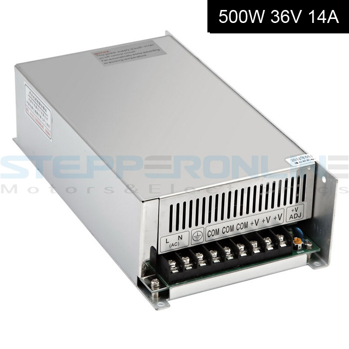 Stepper motor Switching Power Supply 36V output CNC Power Supply 500W 14A 115V/230V AC Input for CNC Router Kits dc48v 500w 10 4a switching power supply 115v 230v to stepper motor diy cnc router