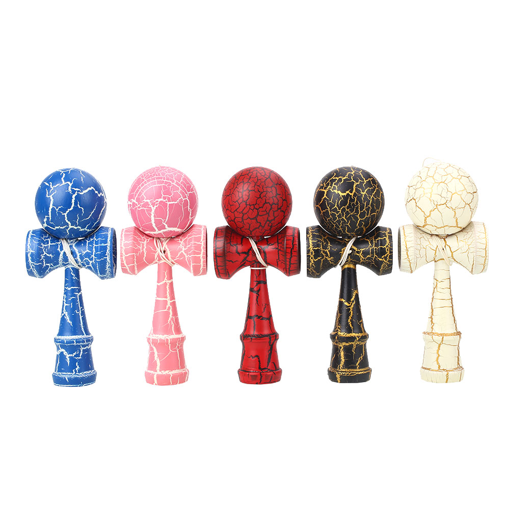 60mm Wooden Kendama Ball Skill Toy Matte Hand-Eye Coordination Lightning Colourful Attractive
