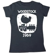 bb91ac5fe Woodstock 1969 Vintage T shirt men & women Music short sleeve printed  cotton tee US plus size XS-3XL