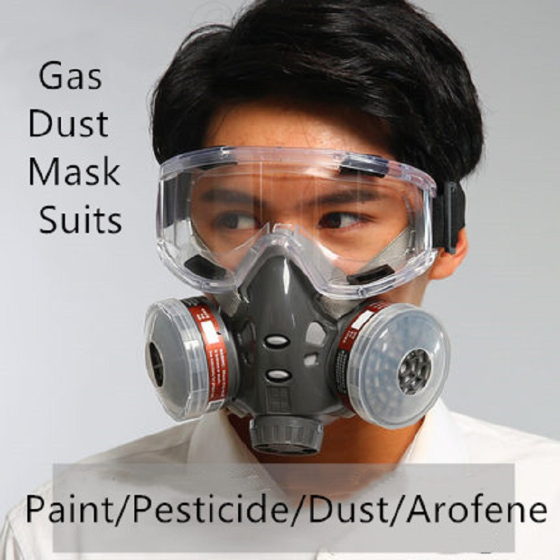 Half Gas Mask Dust-proof Mask Spray Paint Formaldehyde Chemical Industry Pesticide Activated Carbon Odor Absorb Protective Mask
