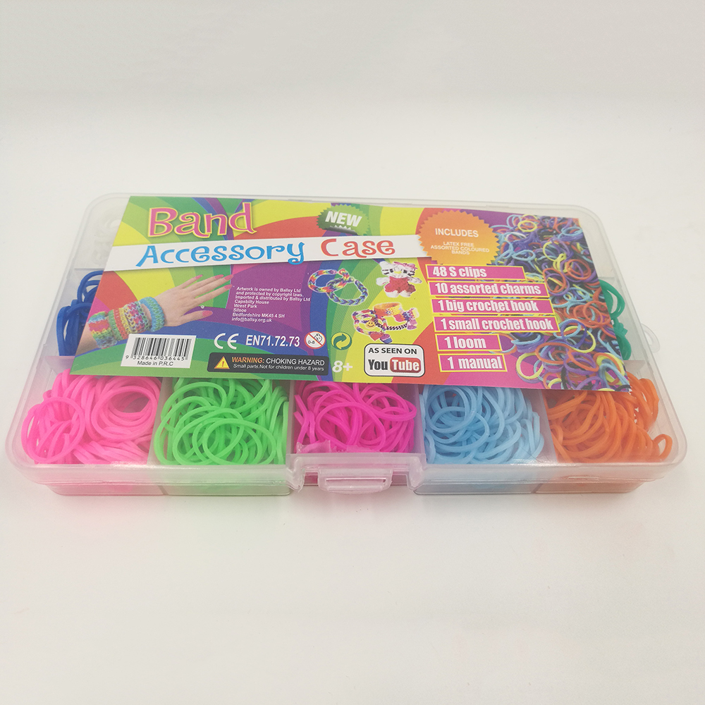 colorful gifts rubber loom bands box set rubber band diy loom charms rh aliexpress com What Are Loom Bands Loom Band Creations