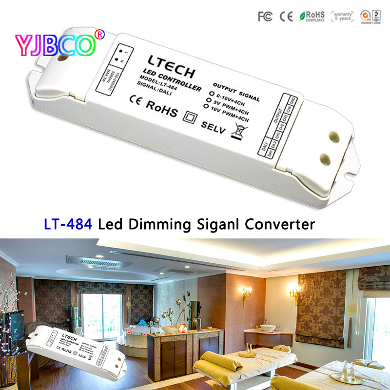 LTECH LT-484 Led Dimming signal Converter,DALI digital dimming signal input;5V PWM x4CH/10V PWM x4CH signal output for led lamp da6 ltech dali dimmer dali digital dimming signal output