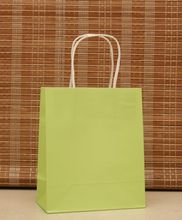 Size 18x15x8 Apple Green Gift Paper Bags Recyclable Shopping Bags Wholesale Free Shipping 50pcs/lot High Quality