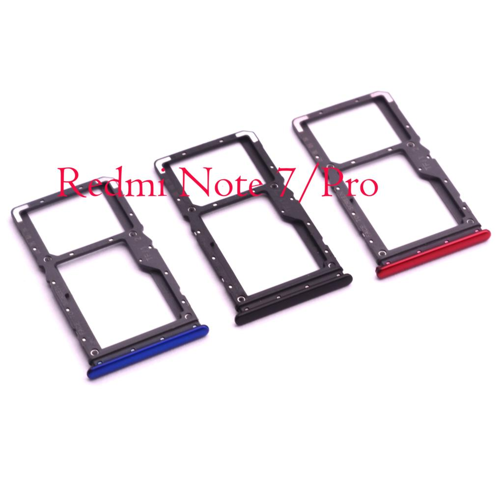 SIM Tray Holder SD Card Reader Slot Adapter for Redmi Note 7 Pro Redmi  Note7 Mobile Phone Flex Cables  - AliExpress