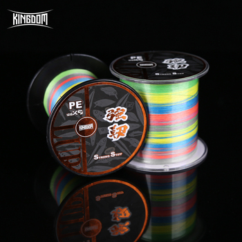 Kingdom Fishing Line 300 and 500 Meters PE 9 Strands Weaves PE braid line 15 - 65 LB Super Strong line Multifilament For Fishing ендова нижняя grand line pe ral 6019 300х300 мм резка