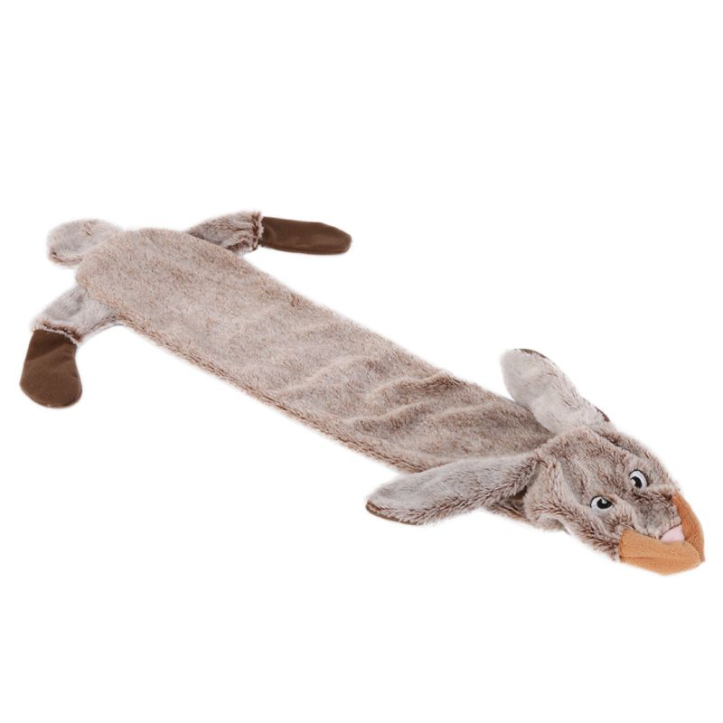 Cute Wolf Toys Stuffed Squeaking Animals Pet Toy Plush Rabbit Honking Squirrel For Dogs Chew Squeaker Squeaky Dog Toys #2