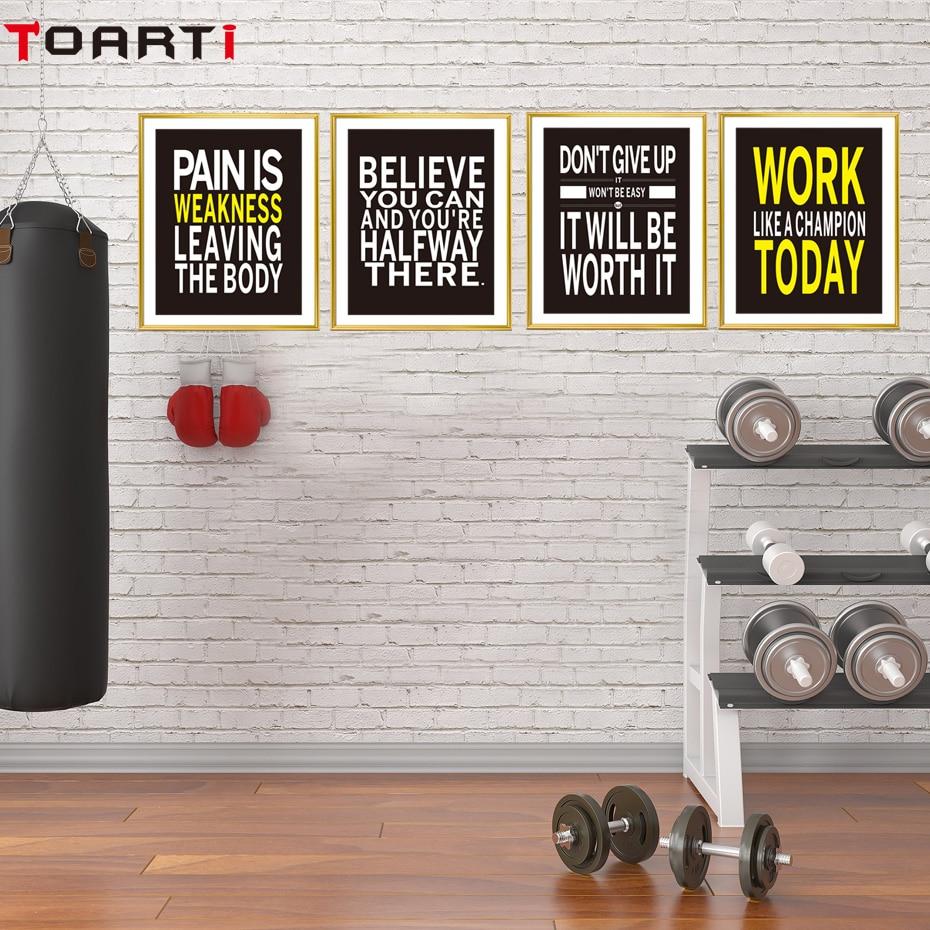 ab5589c66ac5 Workout Gym Motivational Quote Poster Canvas Art Print ...