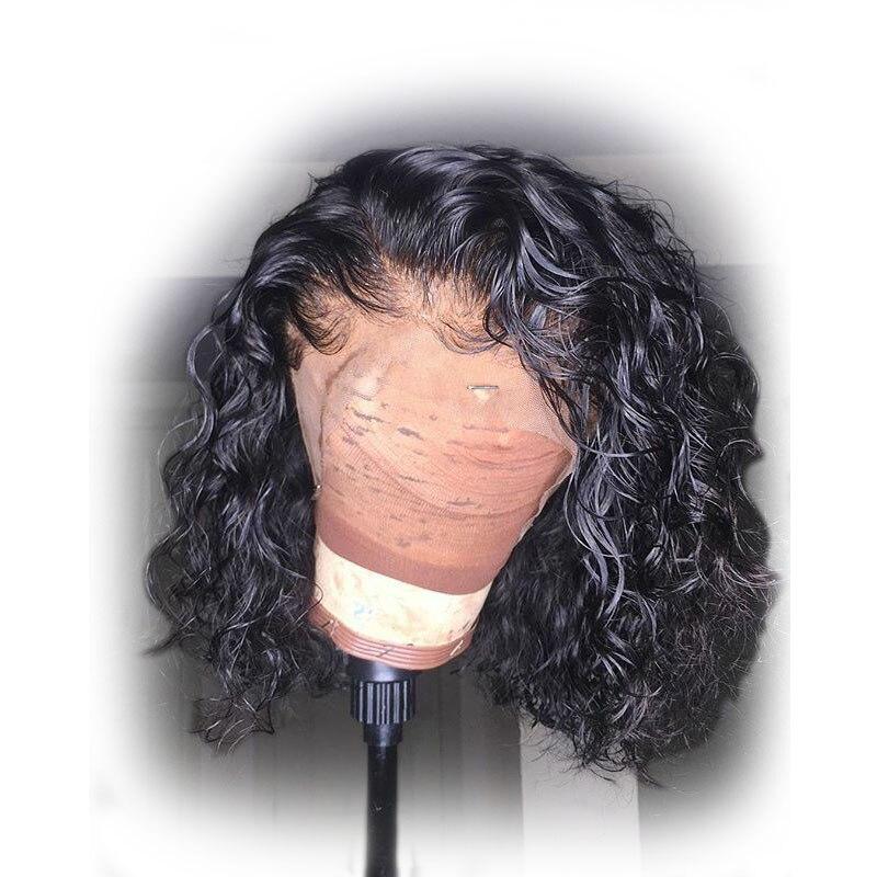 13x6 Lockige Bob Spitze Vorne Perücke Brasilianische Kurz Menschliches Haar Perücken Tiefe Teil Spitze Front Remy Perücken Pre Gezupft Für Schwarze Frauen