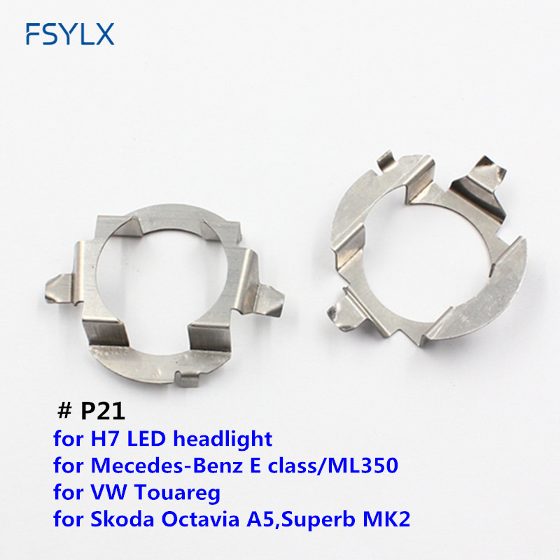 FSYLX 100PC H7 Car LED bulb holder adaptor ML350 Touareg Octavia A5 Superb MK2 LED headlight