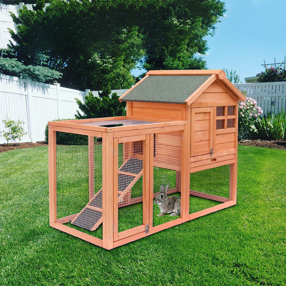Wooden Rabbit Chicken Hutch Birds Animals House Large Cabin Pigeon Cat Dog Bird Rabbit Cage Pets House Outdoor Courtyard