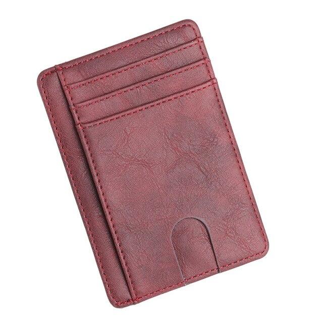 Porte Carte De Visite Rouge Pour Homme En Fossil