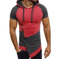 New Brand 2018 Male Slim Fit T Shirt Diagonal Motion Wind Mens Cotton T Shirts Men